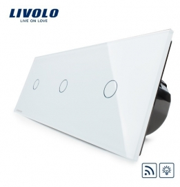 Livolo | Wit enkelpolige dimmer 1+1+1 | Afstandbediening
