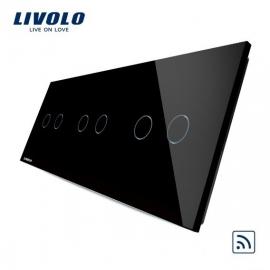 Livolo | Zwart 2+2+2 | Serieschakelaar | Afstandbediening