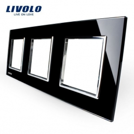 Livolo | Glasplaat | D+D+D | Zwart