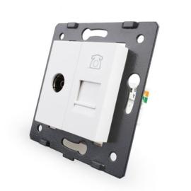 Livolo | Module | SR | Combinatie  | TV en telefoon aansluiting | Wit