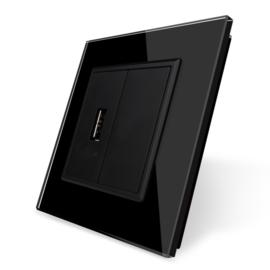 Livolo | USB aansluiting enkelvoudig | Zwart
