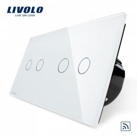 Livolo | Wit 2+2 | Serieschakelaar | Afstandbediening