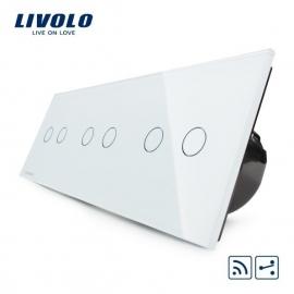 Livolo | Wit 2+2+2 Wisselschakelaar | Afstandbediening