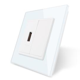 Livolo | USB aansluiting enkelvoudig | Wit
