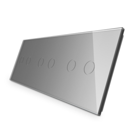 Livolo | Grijs glasplaat | Touchschakelaar | 2+2+2