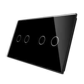 Livolo | glasplaat|  2+2 | Zwart