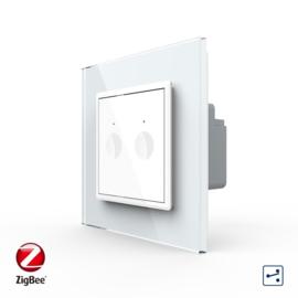 Livolo | SR | Wit | Wisselschakelaar | Tweevoudig | Zigbee/wifi app