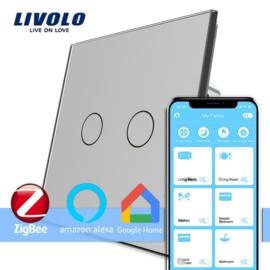 Livolo | Grijs | Serieschakelaar | Zigbee/wifi app