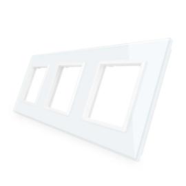 Livolo | Wit glasplaat | SR+SR+SR