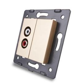 Livolo | Module | SR | Audio Speaker enkelvoudig | Goud