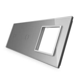 Livolo | Grijs glasplaat | Combinatie | 1+1+SR