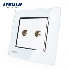 Livolo | Wit | TV aansluiting tweevoudig