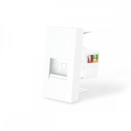Livolo | Frame | Enkel | Netwerk - RJ45 | Wit