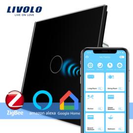 Livolo | Zwart | Enkelpolige schakelaar | Zigbee/wifi app