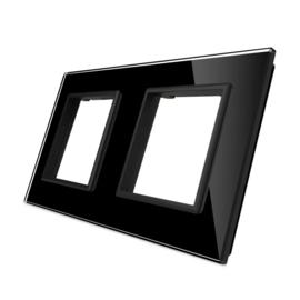 Livolo | Glasplaat | SR+SR | Zwart