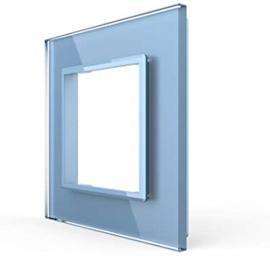Livolo | Blauw glasplaat | SR | Enkelvoudig