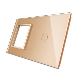 Livolo | Goud glasplaat | Combinatie | SR+1