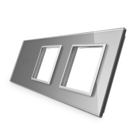 Livolo | Grijs glasplaat | Combinatie | 1+SR+SR