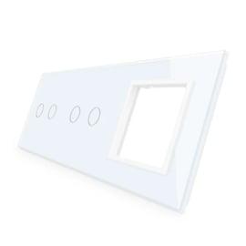 Livolo | Wit glasplaat | Combinatie | 2+2+SR