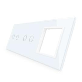 Livolo | Glasplaat | 2+2+SR | Wit