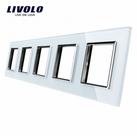 Livolo | Glasplaat | D+D+D+D+D | Wit