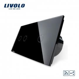 Livolo | Zwart 2+1 Wisselschakelaar | Afstandbediening
