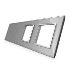 Livolo | Glasplaat | 1+1+D+D | Grijs