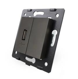 Livolo | Module | SR | USB aansluiting enkelvoudig | Zwart