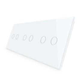 Livolo | Wit glasplaat | Touchschakelaar | 2+2+2