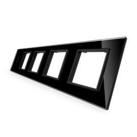 Livolo | Glasplaat | 1+SR+SR+SR+SR | Zwart