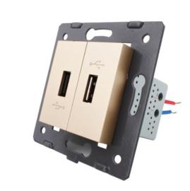 Livolo | Module | SR | USB aansluiting tweevoudig | Goud
