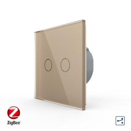 Livolo | Goud tweevoudig | Wisselschakelaar | Zigbee/wifi app