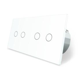 Livolo | Wit 2+2 | Serieschakelaar
