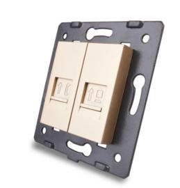 Livolo | Module | SR | Combinatie  | Telefoon en netwerk aansluiting | Goud
