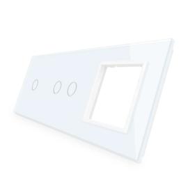 Livolo | Wit glasplaat | Combinatie | 1+2+SR