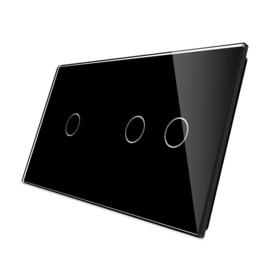 Livolo | Zwart glasplaat | Touchschakelaar | 1+2