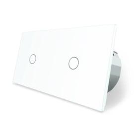 Livolo | Wit 1+1 | Enkelpolige schakelaar