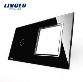 Livolo | Glasplaat | 1+D | Zwart