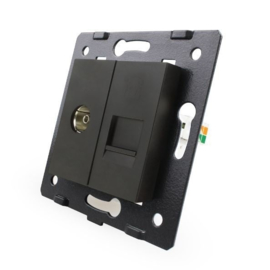 Livolo | Module | SR | Combinatie  | TV en telefoon aansluiting | Zwart