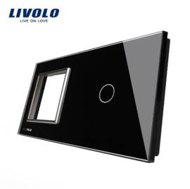 Livolo | Glasplaat| D+1 | Zwart