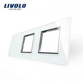 Livolo | Glasplaat | 1+D+D | Wit