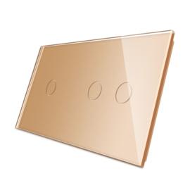 Livolo | Goud glasplaat | Touchschakelaar | 1+2