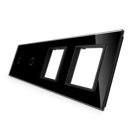 Livolo | Glasplaat | 1+1+D+D | Zwart