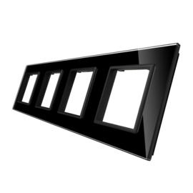 Livolo | Glasplaat | D+D+D+D | Zwart