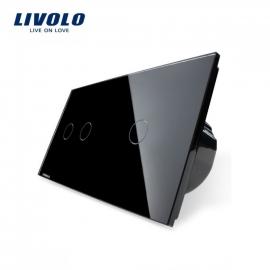 Livolo | Zwart 2+1 | Serie + enkelpolige schakelaar