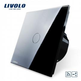 Livolo | Zwart enkelpolig wisselschakelaar | Afstandbediening