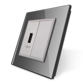 Livolo | USB aansluiting enkelvoudig | Grijs