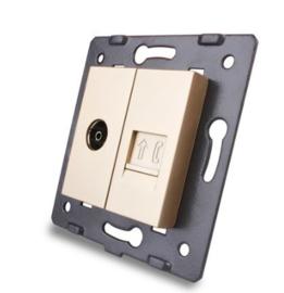Livolo | Module | SR | Combinatie  | TV en telefoon aansluiting | Goud
