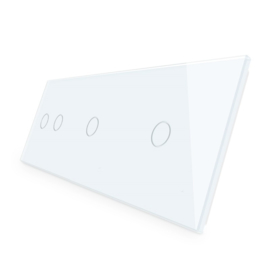Livolo | Wit glasplaat | Touchschakelaar | 2+1+1