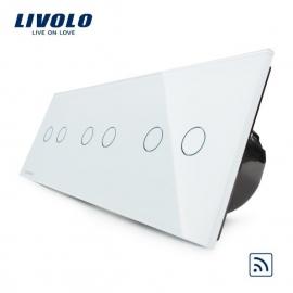 Livolo | Wit 2+2+2 | Serieschakelaar | Afstandbediening